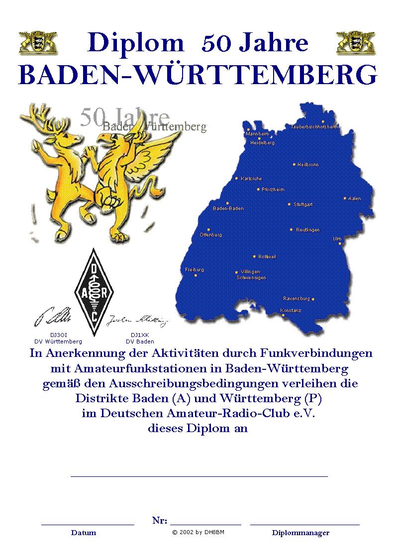 50 Jahre Baden-Württemberg Diplom